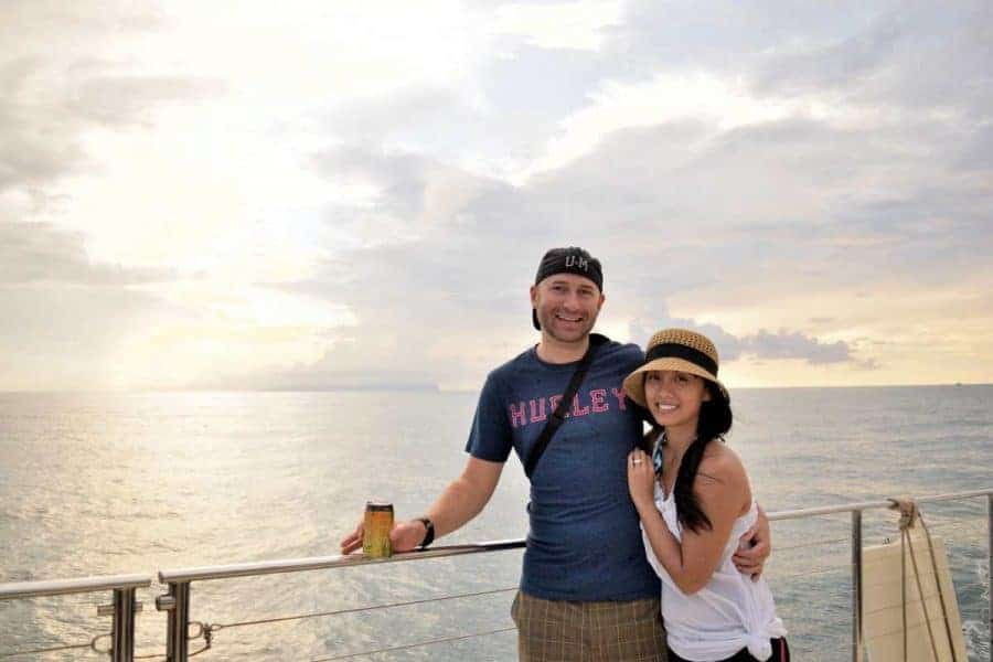 Linda & Will on sailing trip