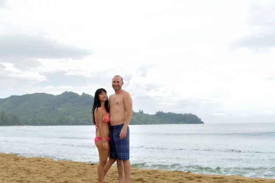 Will & Linda at the beach