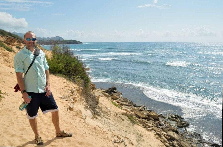 Hiking along cliffs