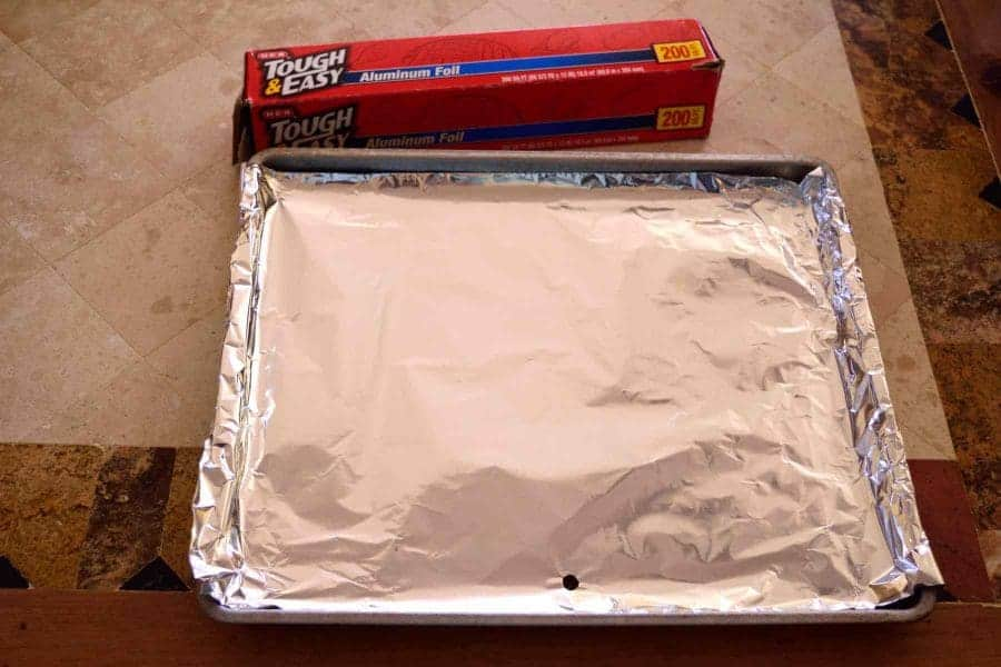 Cover the Drip Pan with Aluminum Foil