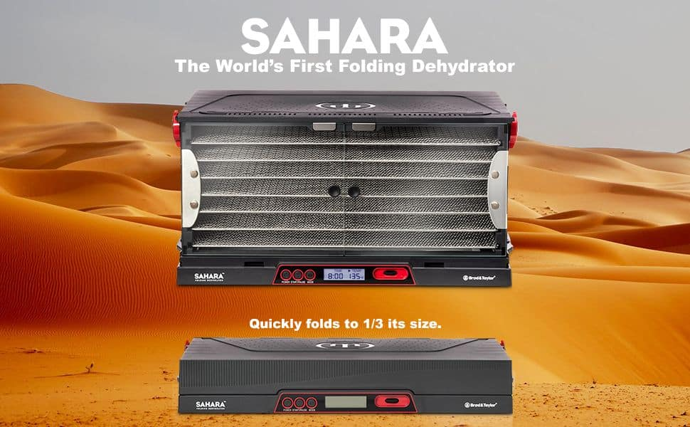 Sahara Dehydrator shown large and folded for storage