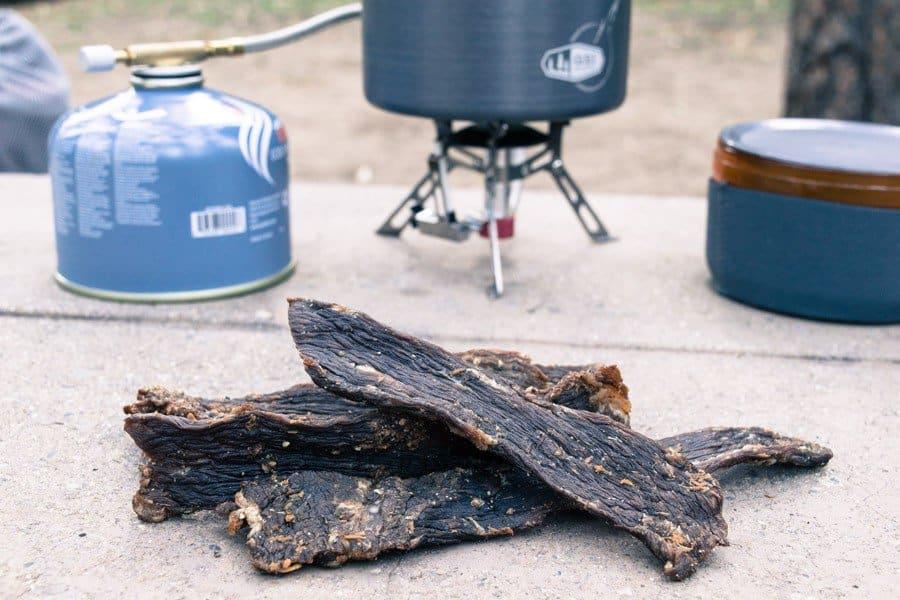 Vinegar Horseradish Beef Jerky Camping