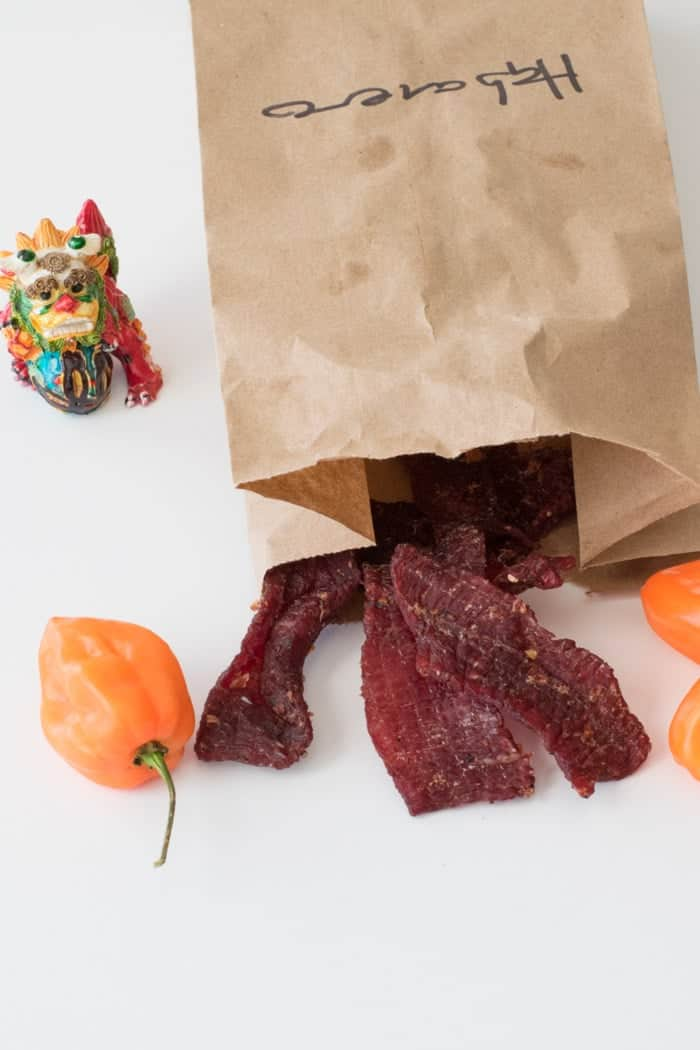 Dragon Flame Beef Jerky is a spicy habanero based meat snack that will clear your sinus! | Jerkyholic