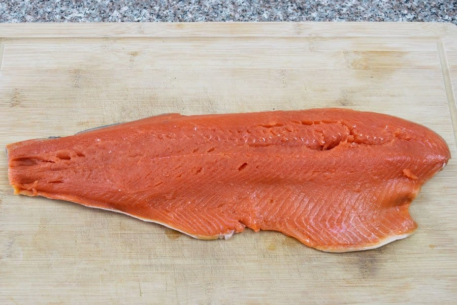 wild caught sockeye salmon filet for jerky