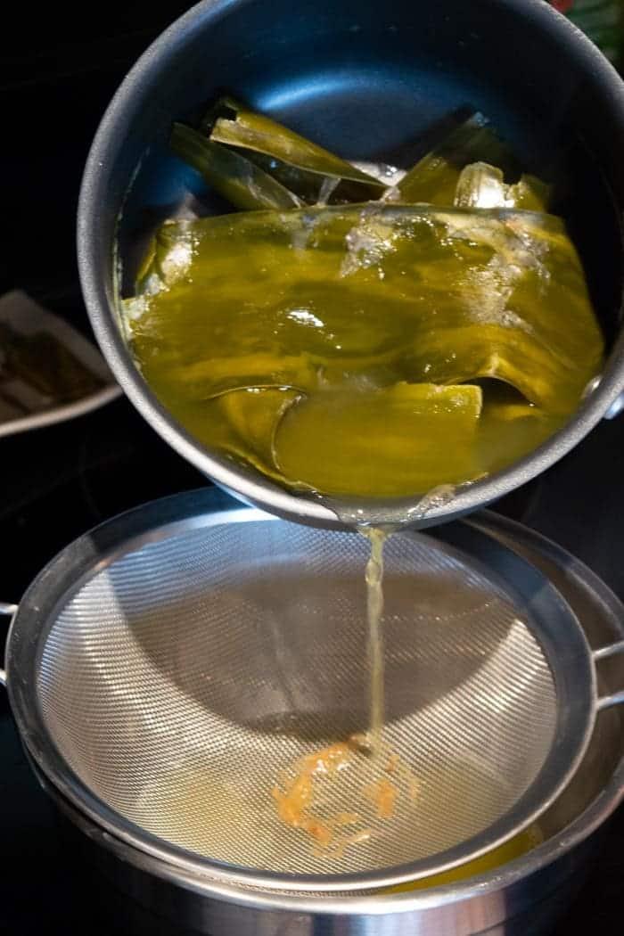 Dashi broth for yuzu jerky