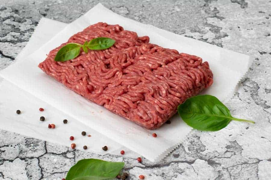 ground beef with basil