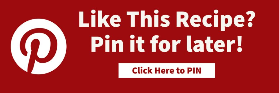 Image asking people to pin recipe to pinterest. Red background wth pinterest logo