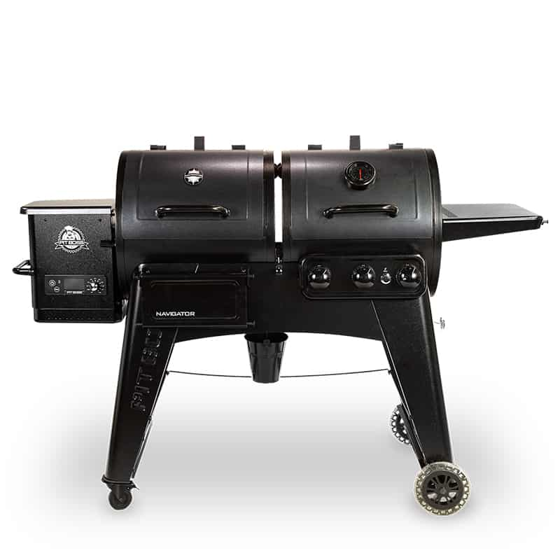 Pit boss smoker gas combo grill on white background